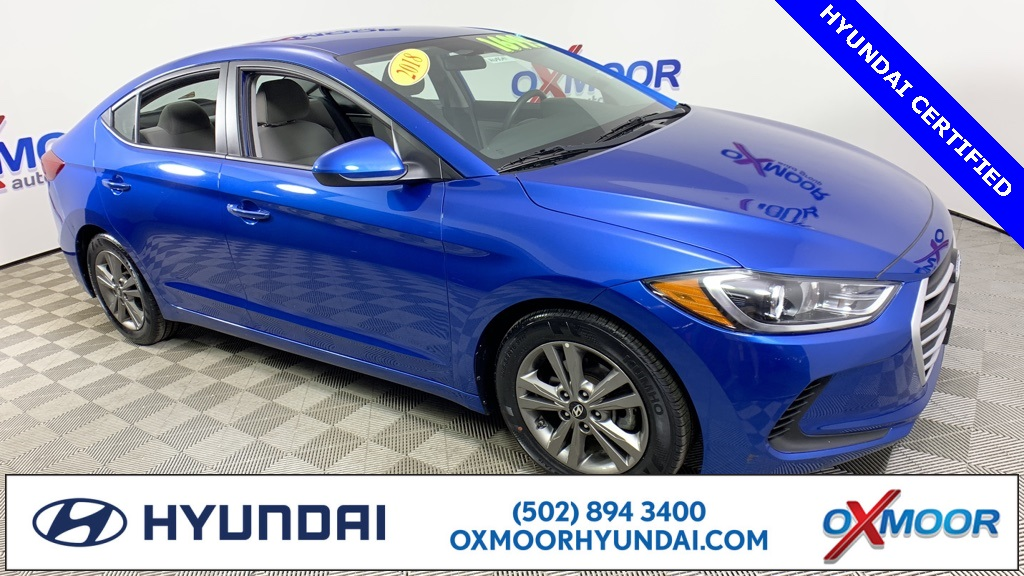 Hyundai Certified Pre Owned >> Certified Pre Owned 2018 Hyundai Elantra Sel Fwd 4d Sedan